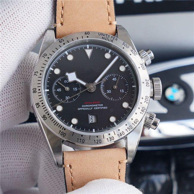 В 2020 году мужская модель качества модели 79350 с размером 41мм оснащен 7750 движения водонепроницаемый мужской часы Механические часы