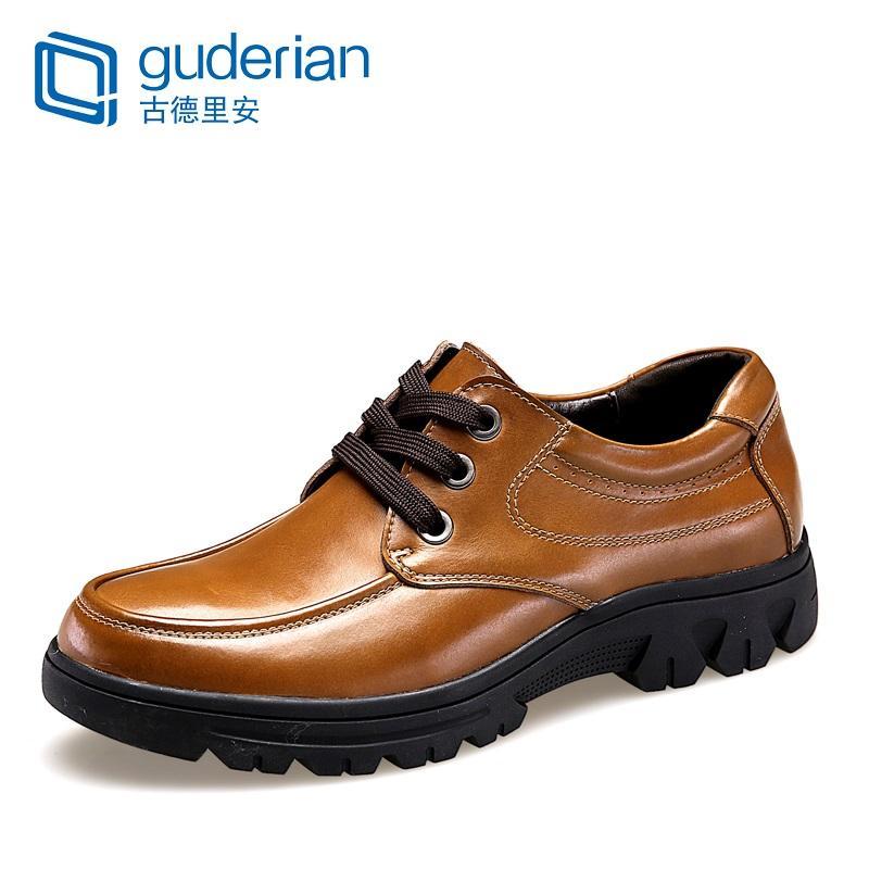Guderian Tamanho Grande 37-50 Homens calçados casuais de couro genuíno formal homens sapatos de luxo Fashion Business Chaussure Oficial