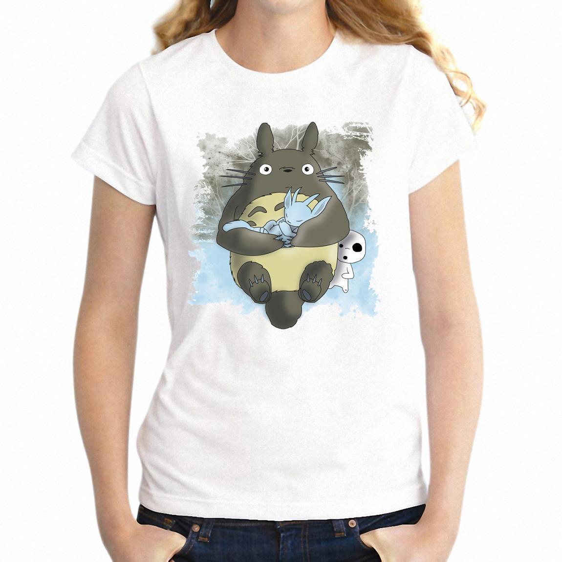 Kadın Tişörtlü Ori Ve Kör Orman Ruh Totoro Kız Tee