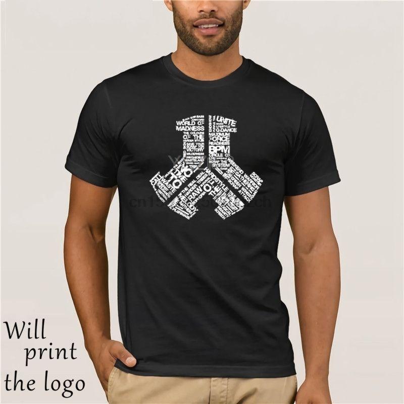 Camisas T-shirt Defqon.1 Camiseta Xxxl manga curta dos homens feitos sob New aleatória Homens de algodão