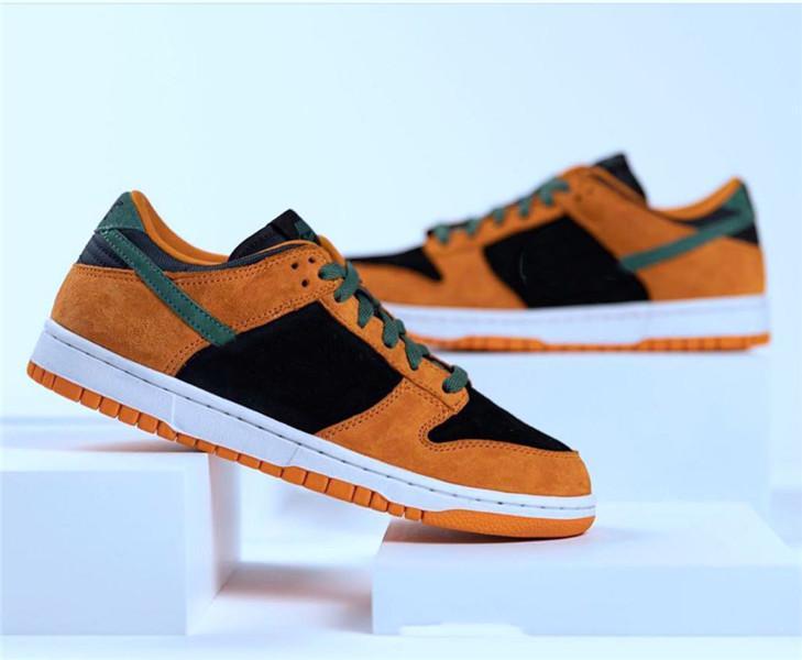 2020 ما قبل البيع dunks السيراميك الاحذية البرتقال الأسود الرجال النساء مصمم الرياضة أحذية رياضية مع صندوق DA1469-001