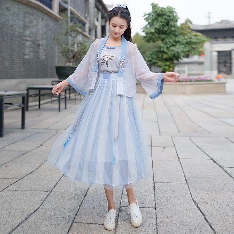 gfBIb Drunken pet G2564 melhorou 2.020 Verão bordado antigo sobre o elemento de terno chinês Suspender saia suspender skirtsling estilingue saia