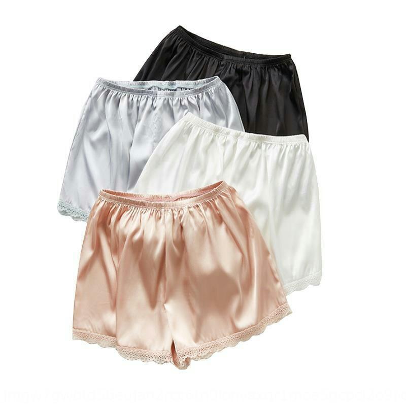 stxQH l'été des femmes grandes anti-exposition des pantalons de sécurité usure extérieure glace de sécurité lâche serré taille leggings en dentelle pantalon mince short en soie