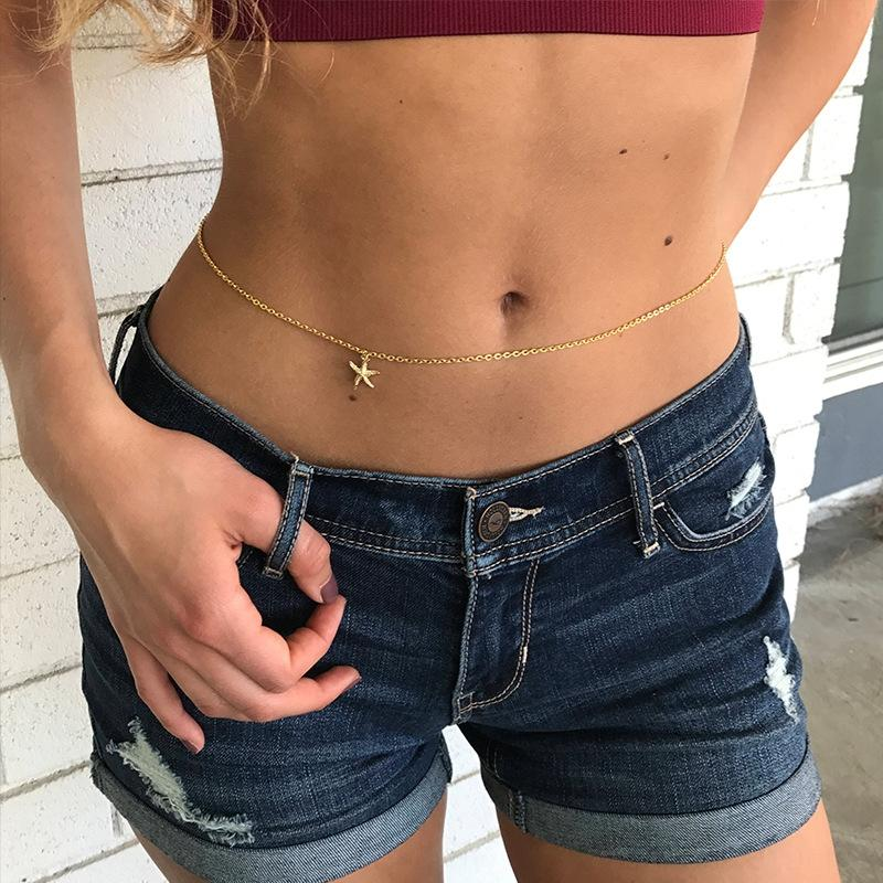 J8fCQ Jewelry summer casual street photography body starfish waist SW031 Jewelry summer casual street Accessories clothing photography body