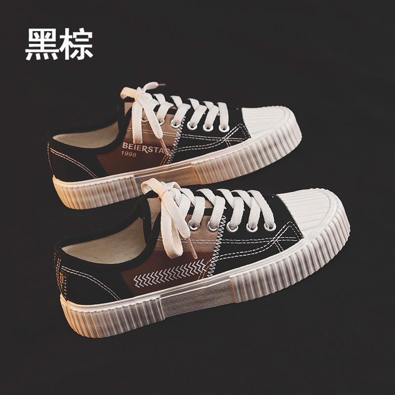 Womens Shoes Autumn 2020 New Female Students Breathable All-match Low-Top Canvas Shoes Korean-Style Flat Womens Casual Shoes