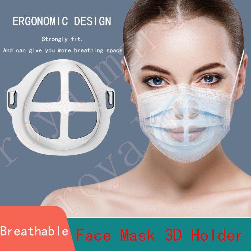 2 estilos 3D desechables máscara de soporte de Protección del lápiz labial soporte máscara interior Soporte Para respira libremente las mascarillas Titular de accesorios para herramientas