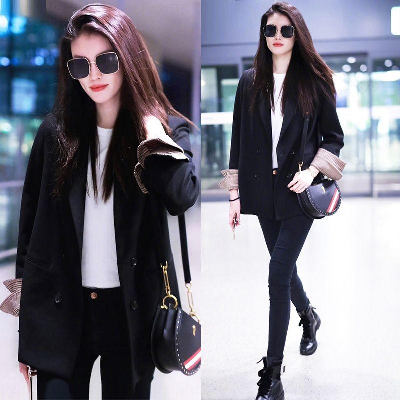 8D8mA Internet giacca celebrità giacca piccolo vestito per le donne 2020 primavera e l'autunno New coreano stile stile sciolto britannico abito nero casual a