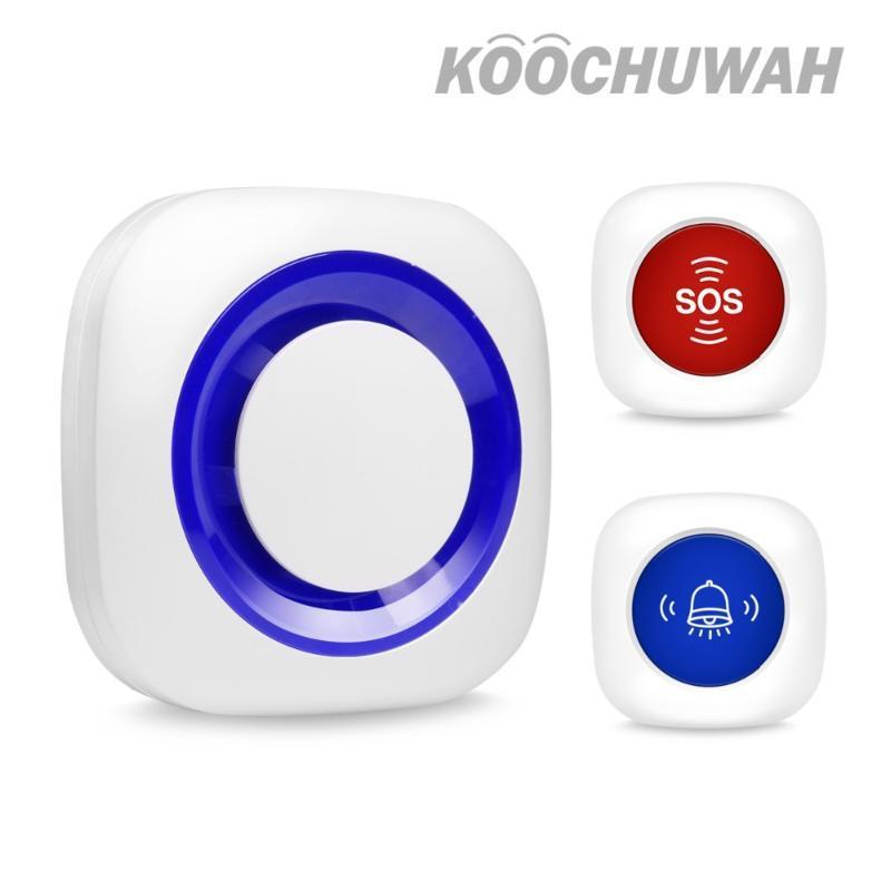 Alarm Sistemleri Sistem sistemi için Kablosuz Ses Uyarı Kiti Sensörü Siren SOS Panik Düğmesi Kapı Zili Güvenliği