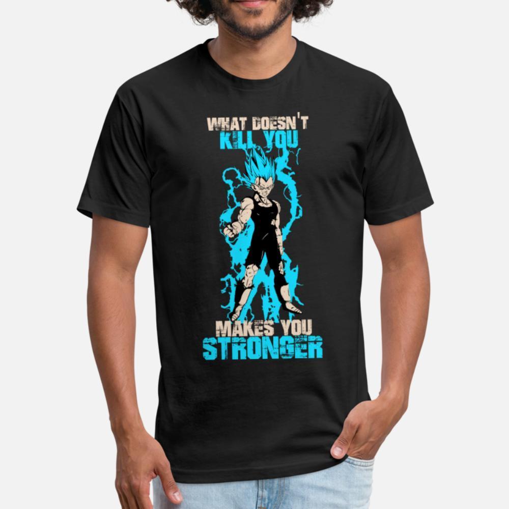 Vegeta neler mu değil öldür Sen Stronge t gömlek erkekler Örme% 100 pamuklu S-3XL Temel Katı Sunlight Komik yaz Resimleri gömlek yapar