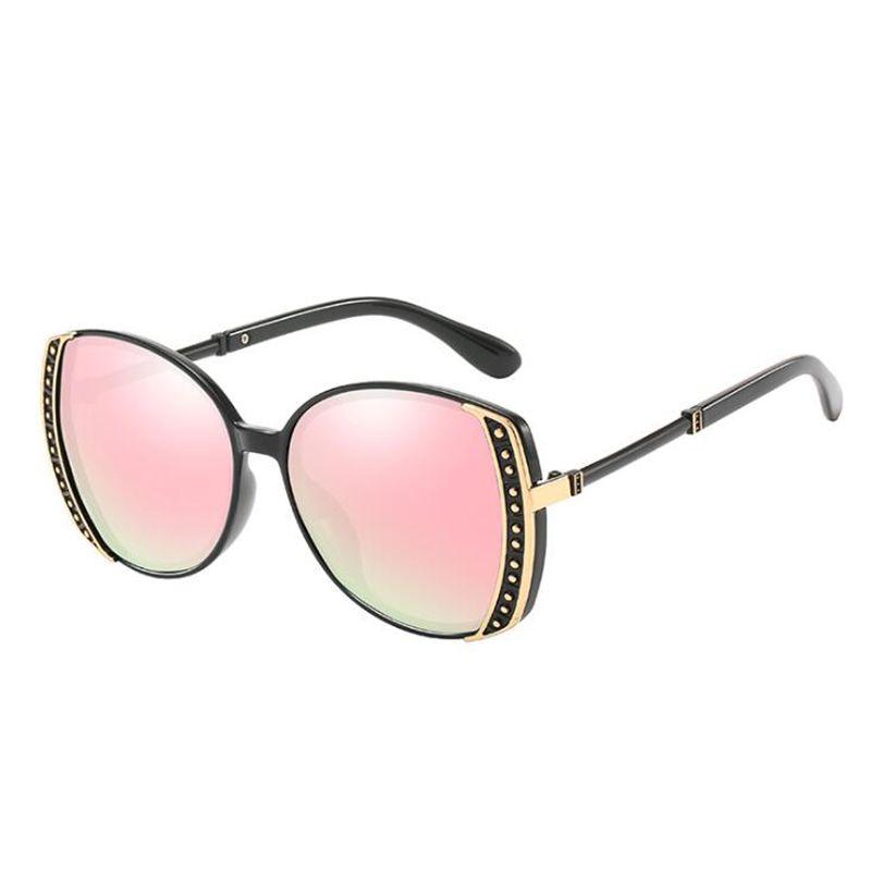 gradiente de moda gafas de sol polarizadas los hombres retro clásico gafas de marco de metal ovalada sol mujeres de conducción Toldo de sol gafas de viajes 2020