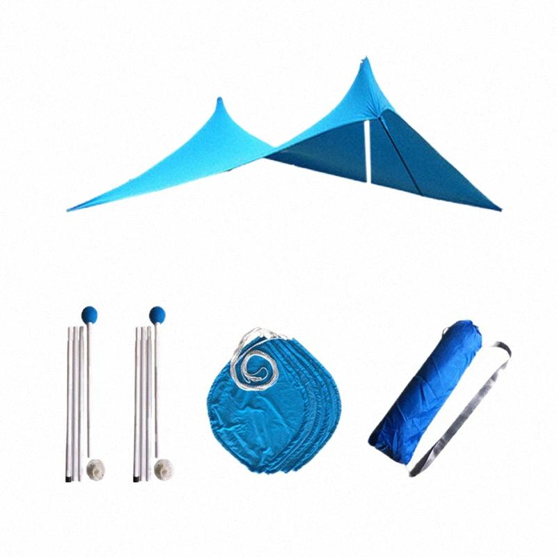 210x210Cm Outdoor Beach Kale Canopy Shade Tent Camping Cool Sunsn Uv Canopy Portable Camping Fishing Tent Blue Wenzel Tents Tent City klyj#