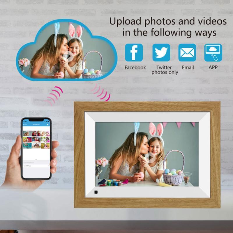 10.1inch شاشة تعمل باللمس هدية المنبه 16GB التخزين الموسيقى والفيديو 1080P WIFI HD صورة العرض إطار الصورة الرقمية مشاركة الأسرة