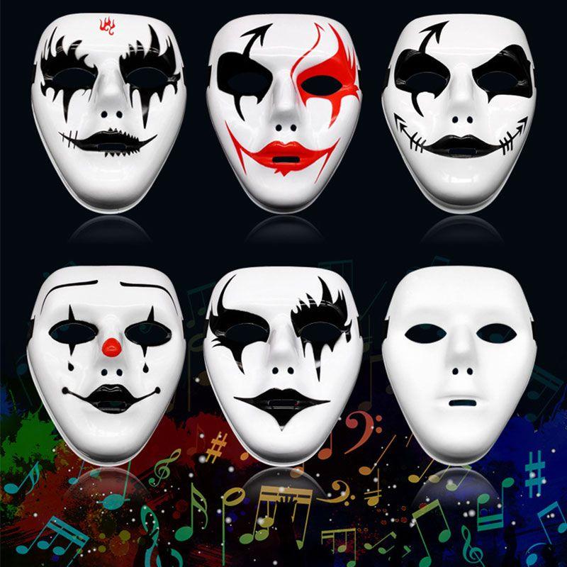 Быстрая Доставка Призрак шаг уличного танец маскарад Хэллоуин маска мужского клоун ужас гримаса взрослые ручной росписью маска Косых маски F1902