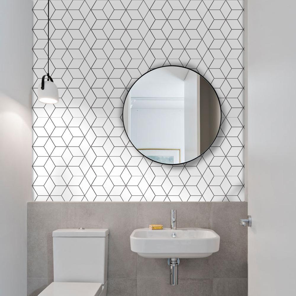 10pcs Tile Stickers Nordic Bathroom Kitchen Tile Decal Peel/&Stick-C