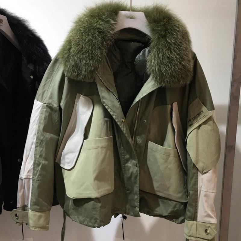 [EWQ] 2020 осень зима новый шаблон с меховым воротником с длинным рукавом Толстые Streetwear пальто женщин Мода Tide AH82906