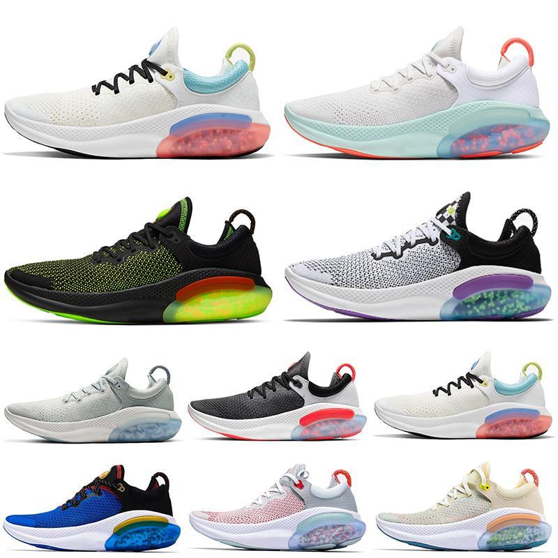 nike joyride run flyknit Sıcak Satış Yeni Joyride Run FK Platin Ton Zirve Beyaz Ayakkabı Elektrik Yeşil Kadınlar Erkekler Tenis Eğitmenler Toptan Yastık Sneakers Koşu
