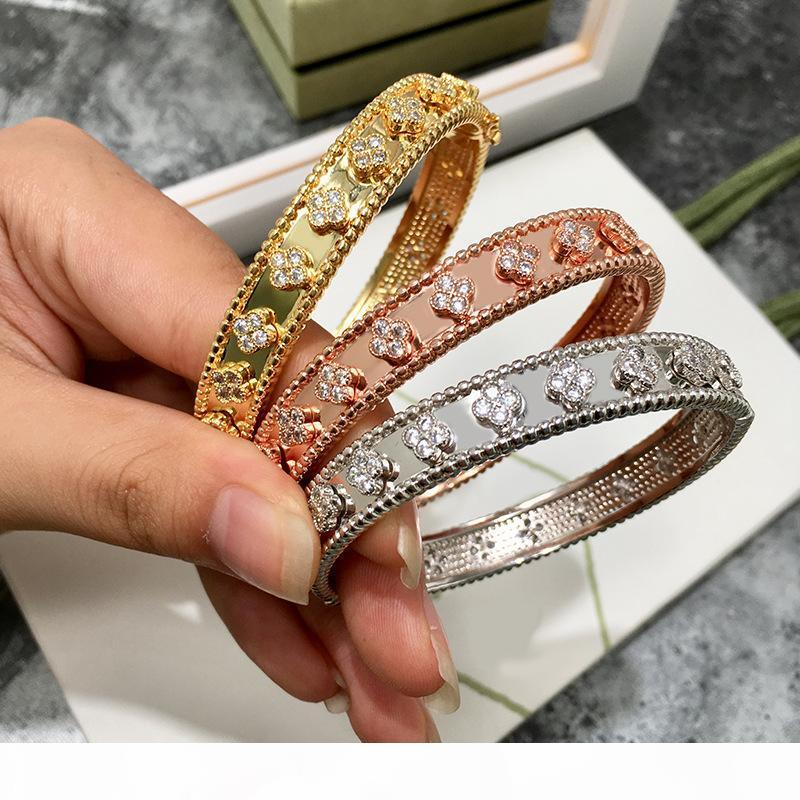 верхнего качество золото гальванических медей CZ камень цветок браслеты для женщин нового прибытие горячих продавая новый роскошной ювелирные изделий