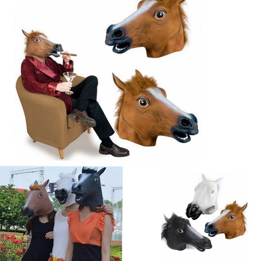 Cosplay Halloween At Kafa Maskesi hayvan Parti Kostüm Prop Oyuncak Roman Tam Yüz Baş KKA8024 Maske