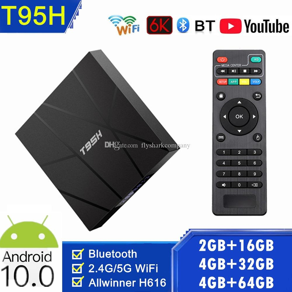 T95H Android10.0 TV Box 2.4G+5G Wifi Allwinner H616 4GB+ 32GB/64GB 6K With BT PK T95 H96