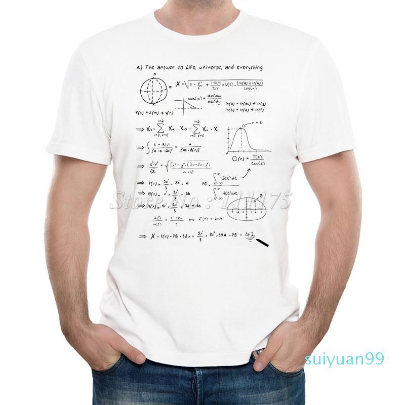 Hot Sale Men 'S neue Art und Weise der Mathe-Antwort des Lebens Bedruckte T -Shirt Polyester Sommer-kühle Tops Design Weiche Kurzarm T-Shirt