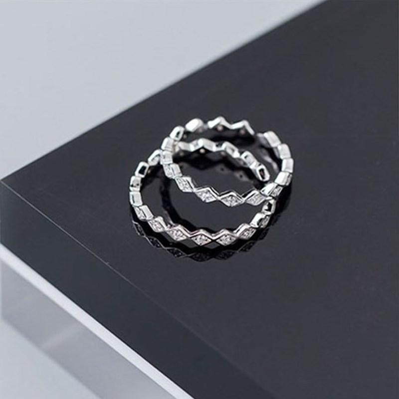925 Sterling Silver Zircon Religious Jesus Cross Shape Knuckle Finger Toe Finger Ring Adjustable Size Free Shipping