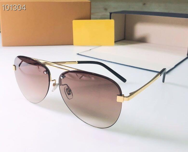 Новая мода мужчин Солнцезащитные очки мужские Солнцезащитные очки 1020 пилот кадр женщин Солнцезащитные очки стиль дизайна цвет покрытия печати UV400 объектив
