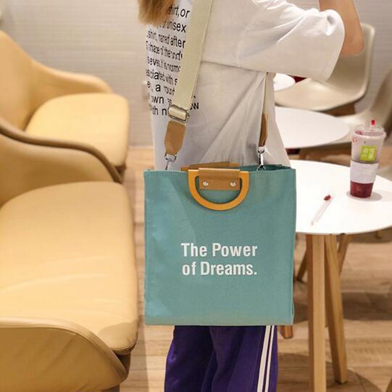 Lettre Femmes Messenger Sac à bandoulière en toile sac à main dames grande capacité pour les filles fourre-tout à bandoulière