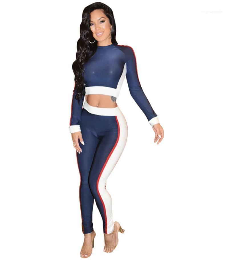 Progettista delle donne tute sportive con pannelli 2PC Set sottile casuale di sport femminile Abbigliamento
