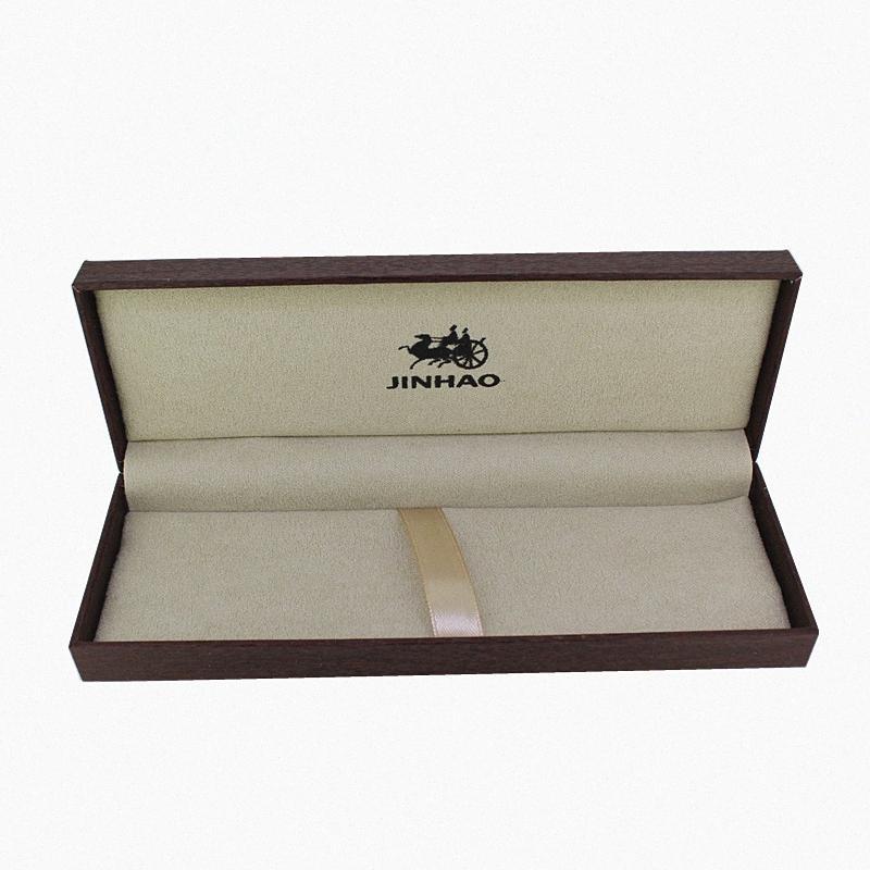 Jinhao Boîte cadeau en bois pour Fountain Pen / Stylo à bille / Rollerball Pen Dark Brown Case Crayon Pen Boîte Fournitures scolaires 3wGb #