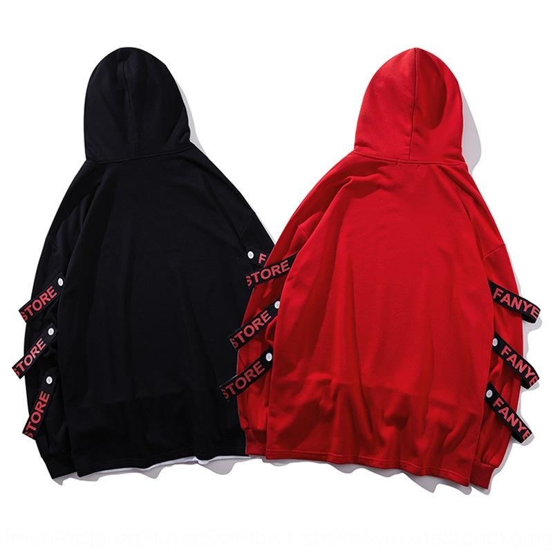 Модный бренд моды поддельные из двух частей персонализированная с капюшоном свитер пуловер пальто пуловеры молодежи Мужская и женская лента пальто IjDoK