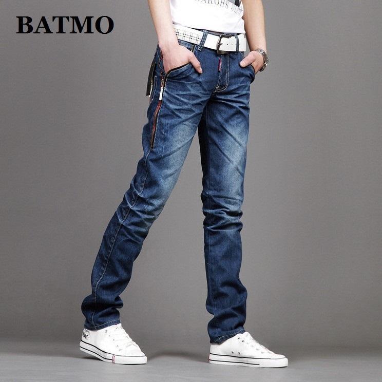 Batmo 2019 nouvelle arrivée occasionnels de haute qualité des hommes minces de jeans élastiques, pantalon crayon hommes, jeans slim hommes 8638 MX200814
