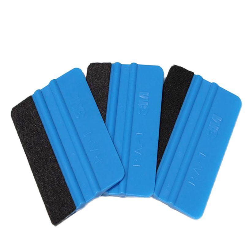 Neue 3M Squeegee Autoaufkleber Wrapping Schaber mit einem Tuch Scraper Car Wrap Werkzeuge Glas Sauber Filz Pflege-Reinigungs-Tools