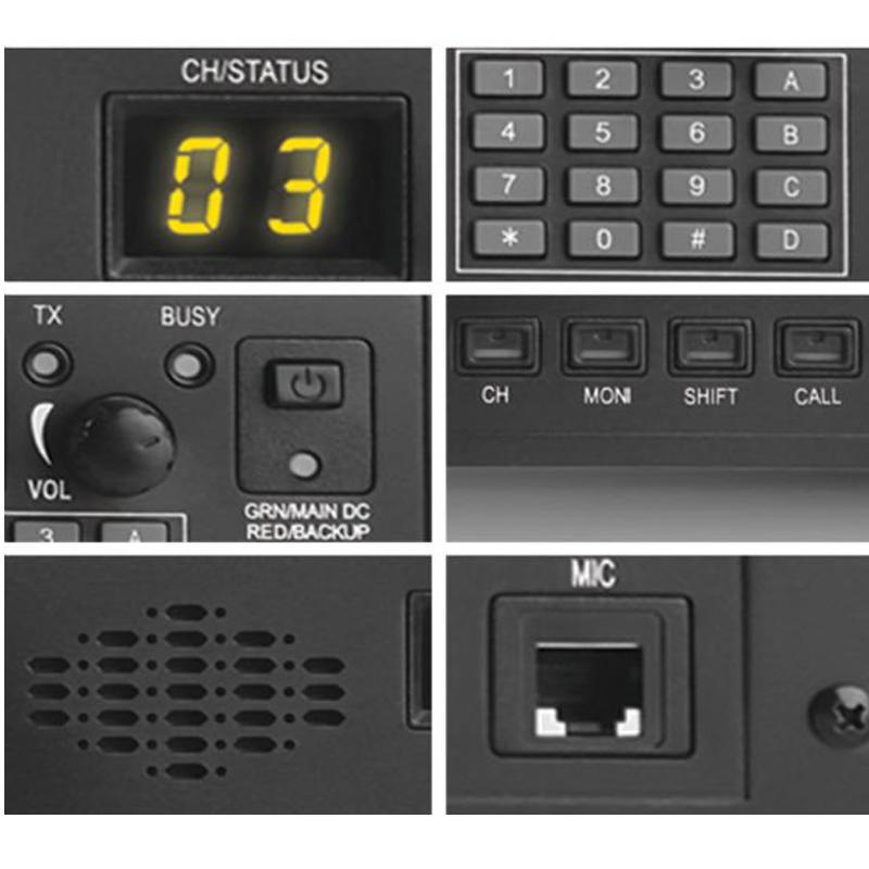 serbest programlama kablosuyla Freeshipping Walkie Talkie Tekrarlayıcı BF-5000 45 Watt 99Ch Analog baz istasyonu iki taraflı baskı tekrarlayıcı