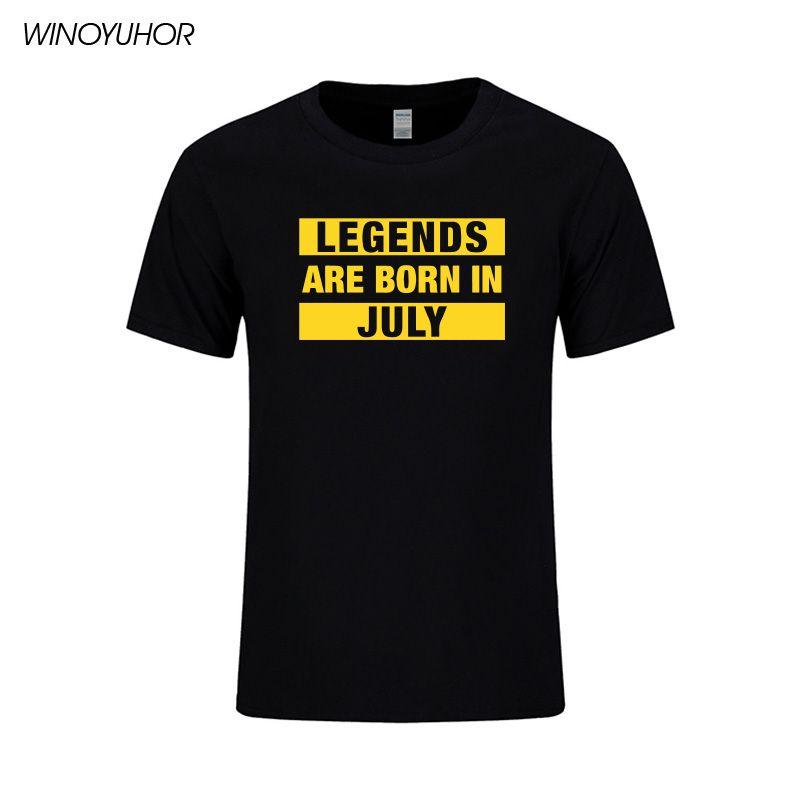 Nascono le leggende A LUGLIO Stampa T-shirt regalo di compleanno Shirt T Presente casuale di estate cotone manica corta SUPERA IL T