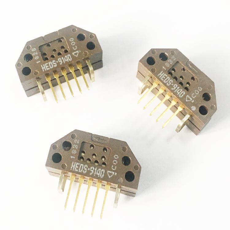 5PCS/lot NEW ORIGINAL HEDS-9140#C00 Rotary Encoder Optical 100 Quadrature with Index (Incremental) Vertical HEDS-9140 Encoder