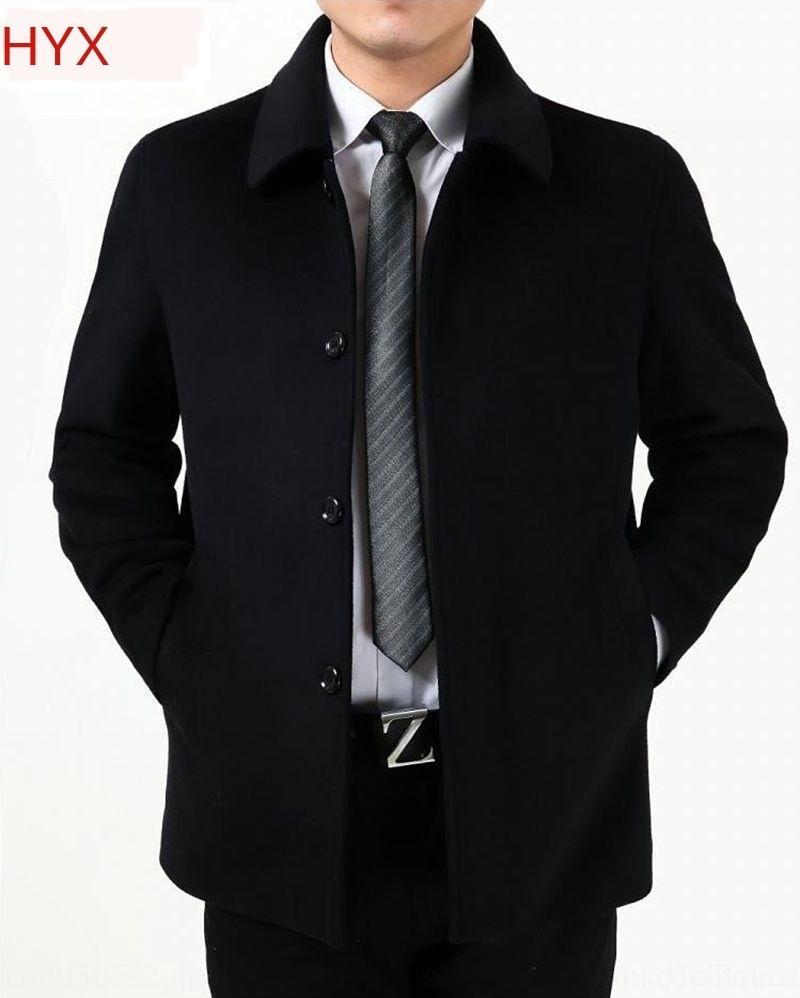 Orta yaşlı ve yaşlı insanlar kış Coat yün Yün sonbaharda ve erkekler orta yaşlı ceket tr 0zNTD babamın sonbahar ekstra büyük kat