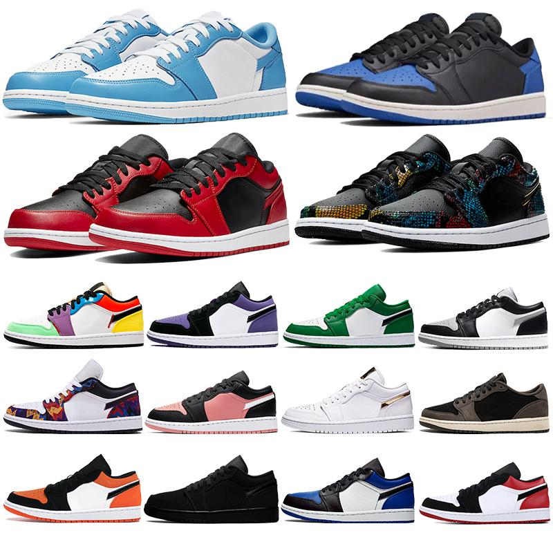 Jumpman 1 1s hommes femmes chaussures de course ombre basse OG UNC Ember Obsidienne lueur royale de Chicago BRiSéeS panneau arrière Planche à roulettes Entraîneur Sneaker