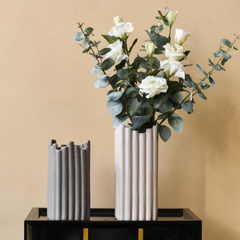 Flor criativo Arranjo cerâmica Vasos de estar Decoração Ornamento Irregular vaso de flor Office Desktop Decoração Artesanato