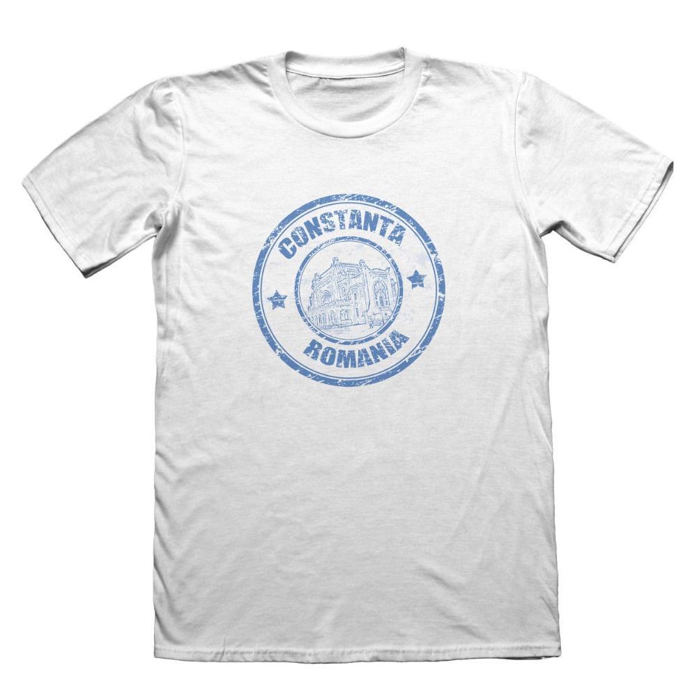 2019 Нового летнего Хлопок Мужчина Tee Shirt Constanta Румыния Флаг Дизайн футболка - Смешные люди подарки мода футболка дизайн