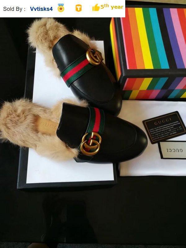 6102 winter ribbon rabbit fur slippers Casual Handmade Walking Tennis Sandals Slippers Mules Slides Thongs