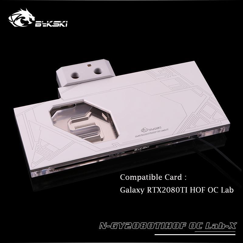 RTX2080TI HOF OC Lab Bykski GPUcooler, sıcaklık göstergesi, N-GY2080TIHOFOCLab-X soğutucu ile su soğutma gpu bloğu