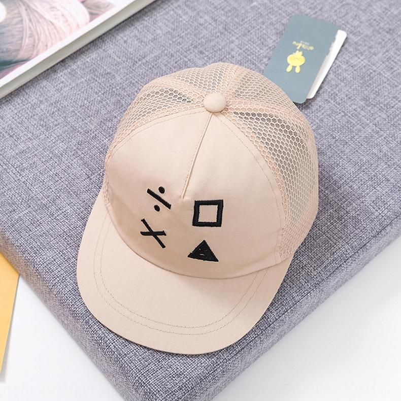maglia nuovi cappelli della molla ricamato estivi protezione cappello dei bambini Net cap mesh traspirante cappello da sole e bambino dei bambini MZ9084 pJx9z