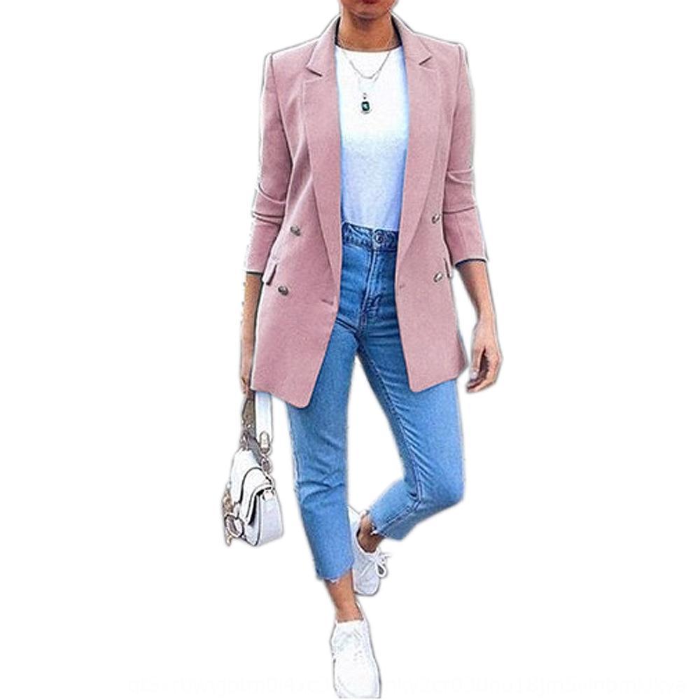 Kadınların 2019 moda şık orta boy ceket ceket şık takım elbise cardig ugt0t için C9Hhu 2019 moda yaka hırka orta boy yaka elbise