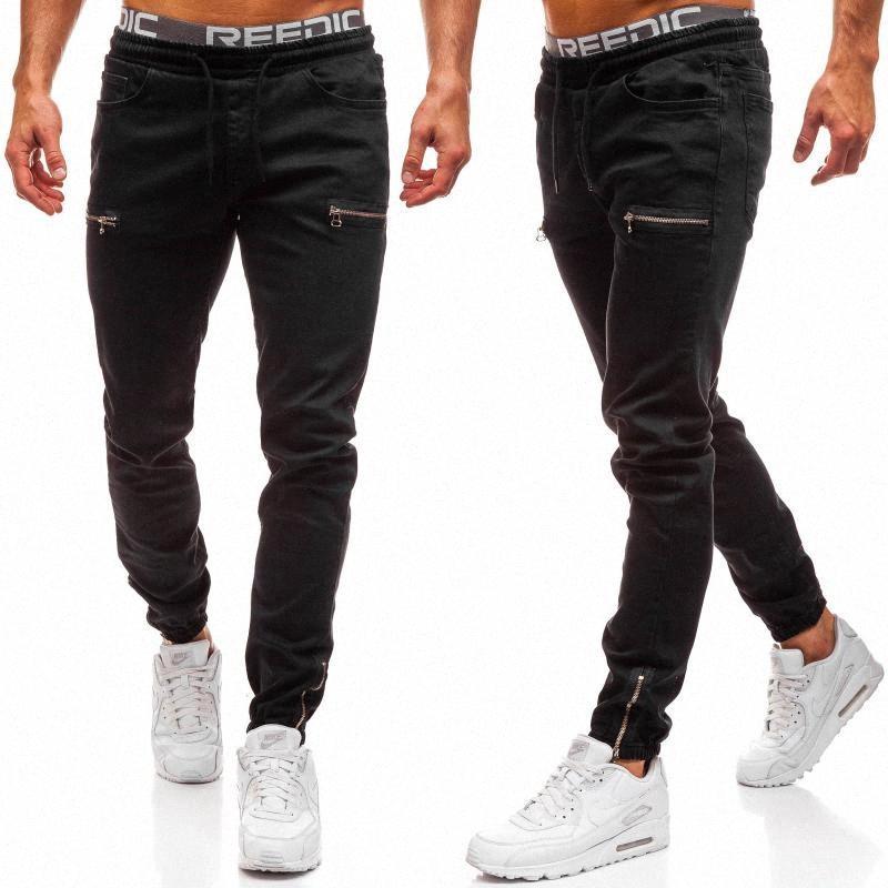Denim hommes Tissu Casual Frosted Zipper Design Sport Jeans Europe et Amérique du Nord Homme Jeans de #