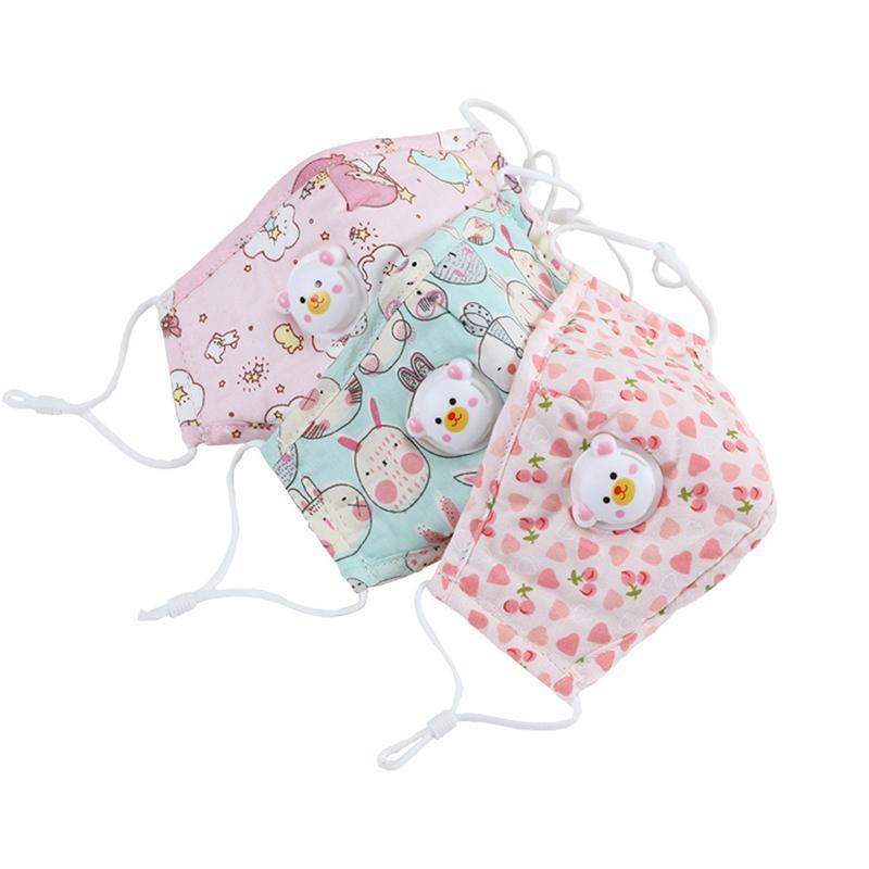 Schöne Panda Kids Designer Entlüftungsventil Gesichtsmaske mit verstellbarer Schutzmaske waschbar und wiederverwendbar atmungsGesichtsMasken