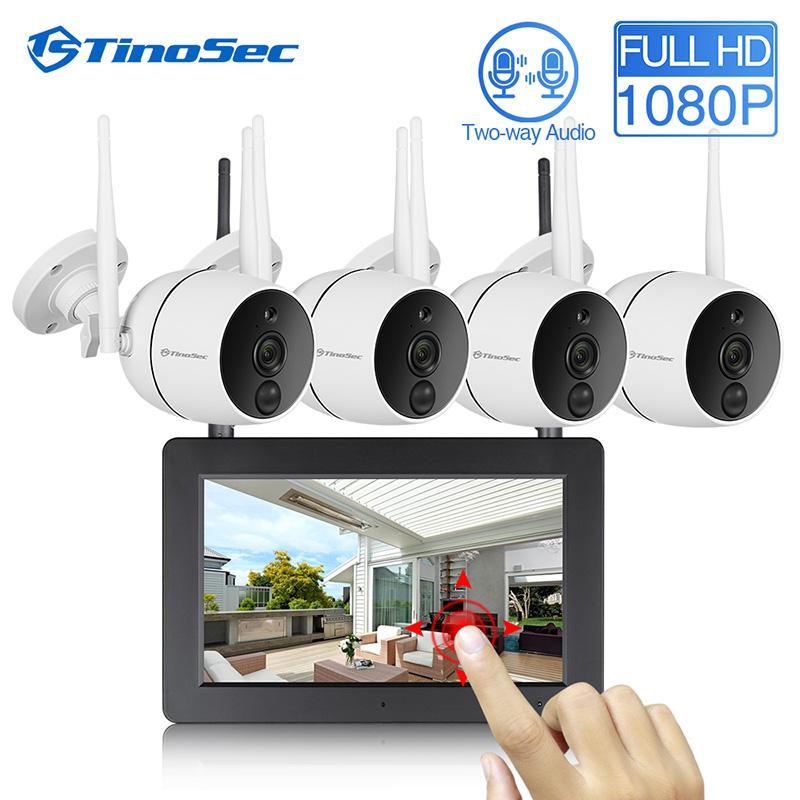 TinoSec CCTV камеры безопасности системы 1080P WiFi Mini NVR комплект видео наблюдения Беспроводная IP-камера PIR Функция SD Card Recording