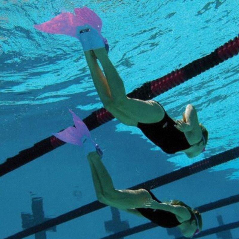 Mermaid Beach Wassersport Flippers Kinder Tauchen Trainings Whale Mermaid Flossen Schwimmen Strandausrüstung Wassersport Flippers Childre BCGE #