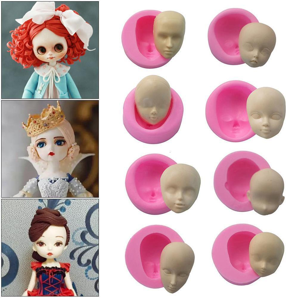 Silicone Baby Face Cake Mold Chocolate Polymer Clay DIY Craft Dolls Mold LB