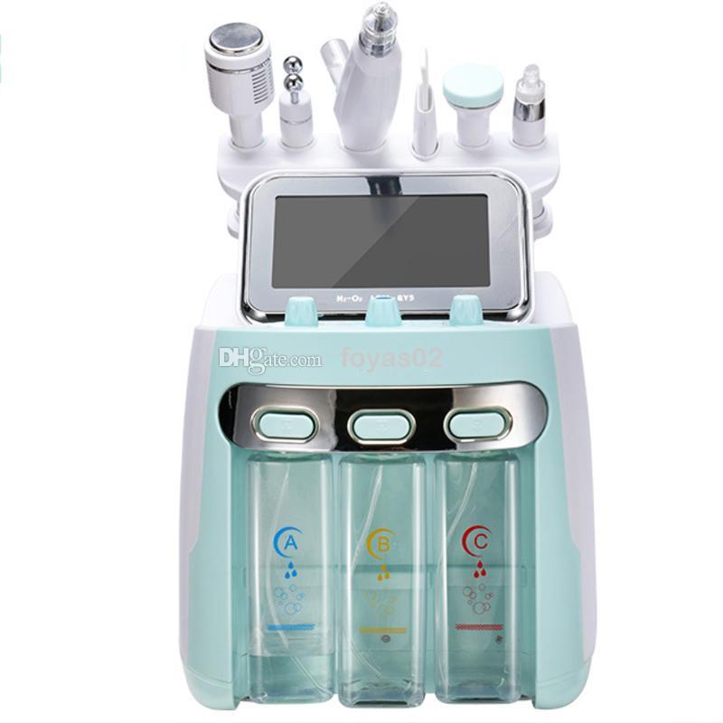 6/7 em 1 ultra-som máquina Facial cavitação Hydra dermoabrasão Água do Aqua Oxygen Pistola RF Hidro Microdermoabrasão Peeling pele Vacuum
