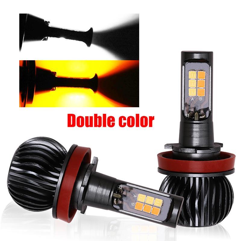1 Satz H4 Hallo / Lo Beam LED-Auto-Scheinwerfer-Lampen H1 H3 H7 H8 / H9 H11-Kopf-Lampen 9005 9006 880 881 führen Auto-Nebel-Licht-Weiß, Gelb, Hell